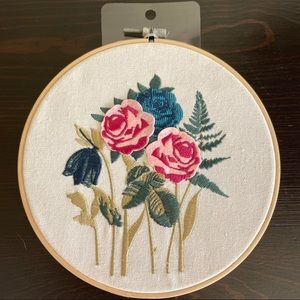 JoAnn Floral Embroidery Wall Decor New with Tags